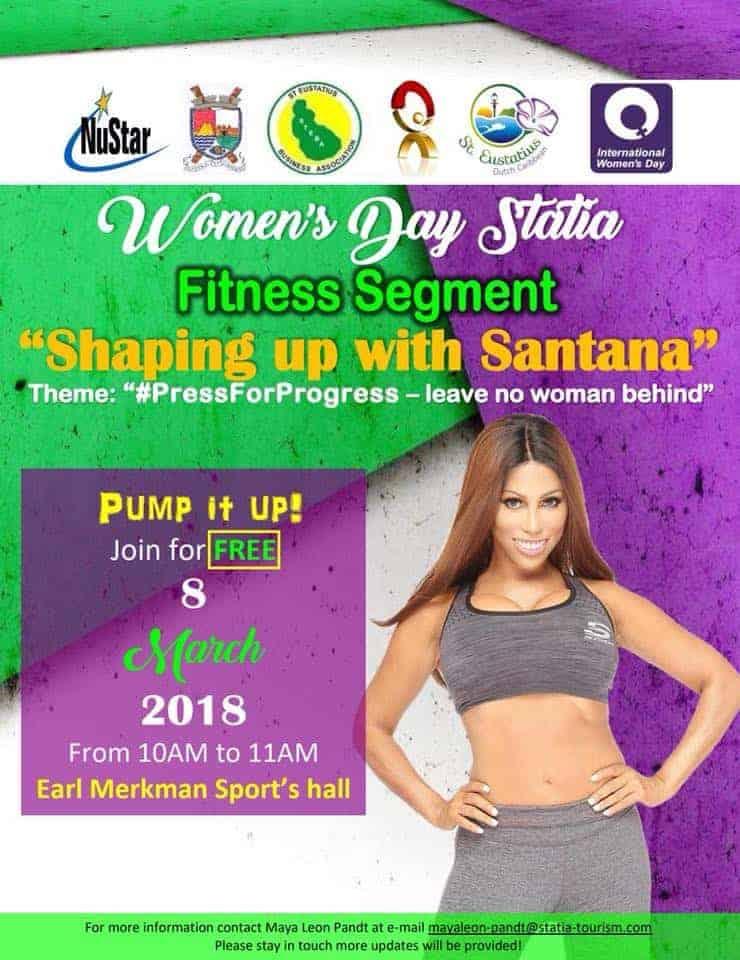 Santana Rodriguez Women's Day Statia Fitness Segment