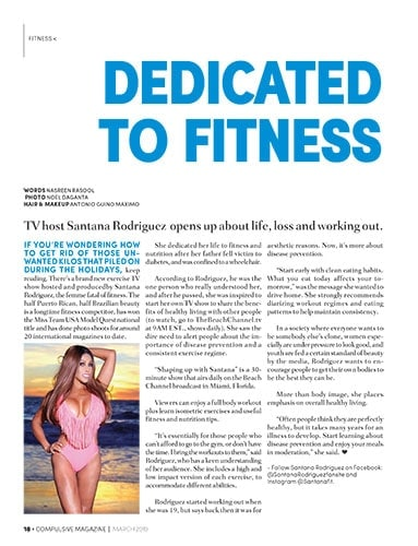 Santana Rodriguez Dedicated to Fitness