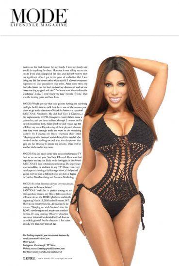 Santana in Mode Lifestyle Magazine